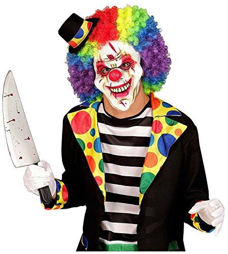 Maske Killer Clown Kostüm Halloween Verkleidung ohne Perücke und Hut