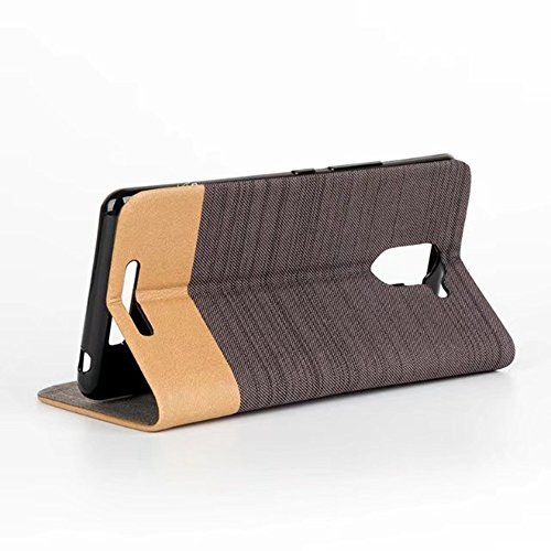 EKINHUI Case Cover Für BQ U Plus Fall Horizontale Flip Stand 2-Color gemischte Leinwand PU Leder Tasche mit Card Slot & Halter ( Color : A ) B