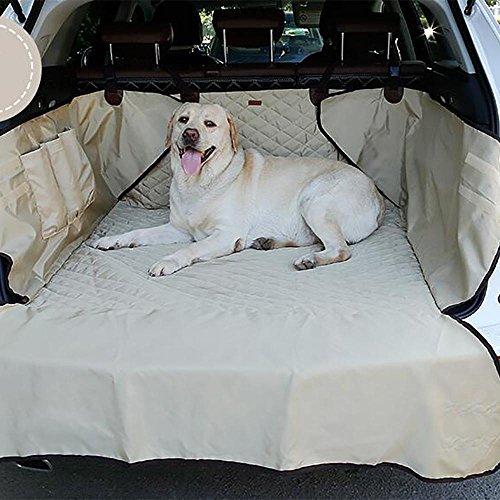 LPY-Auto Boot Liner, Heavy Duty Universal Wasserdichte Auto Boot Liner Haustier Hund Sitzbezug Matte Auto Zurück Seat Protector Hängematte , Beige (Universal-boot-sitzbezug)
