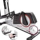 Ultrasport XT-Trainer 1000A Crosstrainer/Ellipsentrainer mit Handpuls-Sensoren inkl. Trinkflasche -