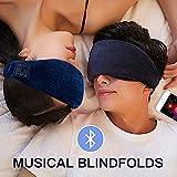 Masque de sommeil Bluetooth, Masque de sommeil casque Bluetooth, casque de sommeil de voyage de musique sans fil Bluetooth casque pour iPhone, Android