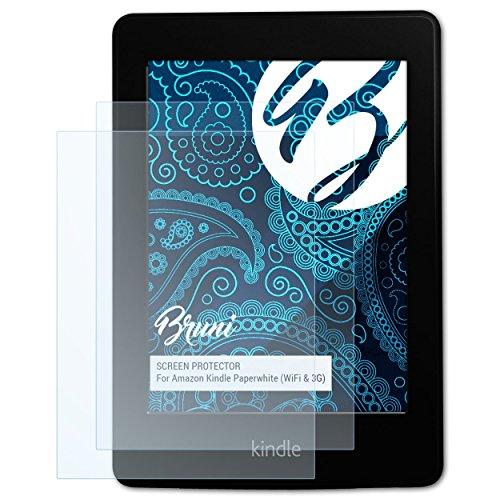 Bruni Schutzfolie für Amazn Kindl Paperwhite (WiFi & 3G) Folie - 2 x glasklare Displayschutzfolie