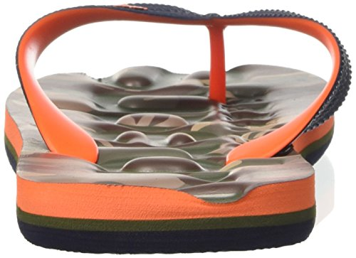 Superdry Herren Classic Camo Zehentrenner Mehrfarbig (Dark Navy/Hazard Orange/Khaki)