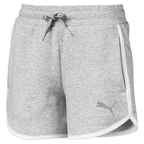 PUMA Mädchen Alpha Sweat Shorts G Jogginghose Alpha Sweat Shorts G, Grau (Light Gray Heather), 16 Years (Herstellergröße: 15-16 Years)