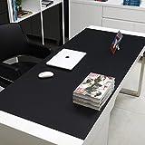 DS-L rezeption matte, computer, schreibtisch - schreibtisch - mousepad, extra großen kissen, verdickungsmittel und mehrfarbig,klassisches schwarz (120 * 60)