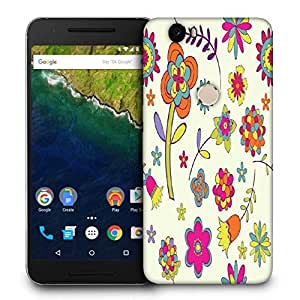 Snoogg Colorful Flower Printed Protective Phone Back Case Cover For LG Google Nexus 6P