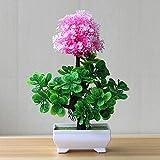 HONIC Falso Cipolla Sfera Artificiale Fiore Pianta in Vaso Flower Set Bonsai in Vaso pianta Ricca Decorazione Domestica Decorazione della tavola: ZZLJ16191