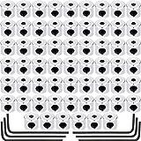 Leinuosen 60 Stücke Pin Anstecker Sicherheitsverschlüsse Pin Rücken Ersatz mit Schlüssel (5,5 x 9 mm) (6 x 5 mm)