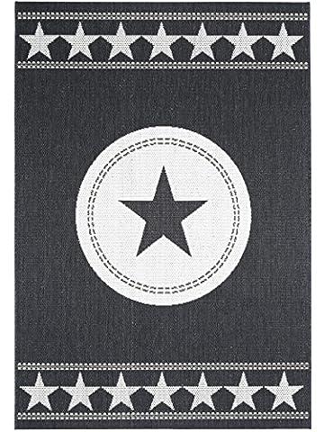 benuta In- & Outdoor Teppich Essenza Star Schwarz 120x170 cm