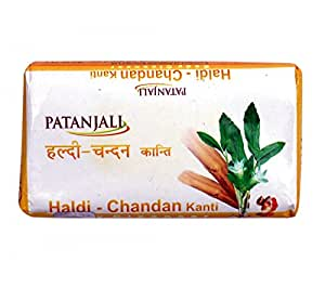 Patanjali Haldi Chandan Soap- 150g (Pack of 5)