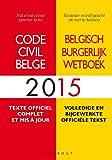CODE CIVIL BELGE 2015