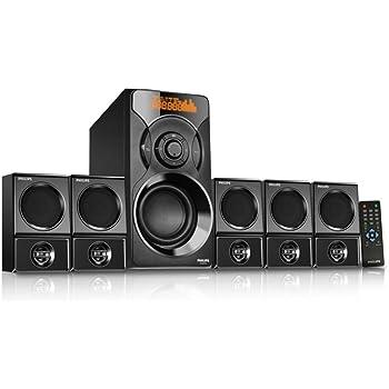 Philips Cannon SPA6700B/94 Multimedia Speaker Set 5.1 (Black)