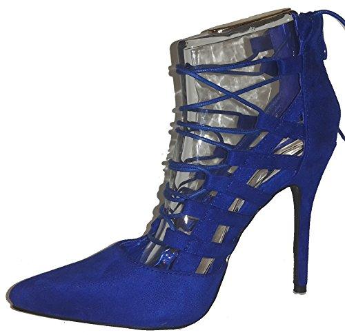 Talons hauts, Stiletto Pumps High Heels sandales, très sexy, bleu, orange, rosé, noir, blanc, pink, beige, gris, violet, rouge, serpents look, liège, glossy, modèle 11064105012035, escarpins. Beu avec des rubans.