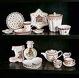 Villeroy & Boch Winter Bakery Delight Teekanne, 1,3 Liter, Premium Porzellan, Rot/Beige