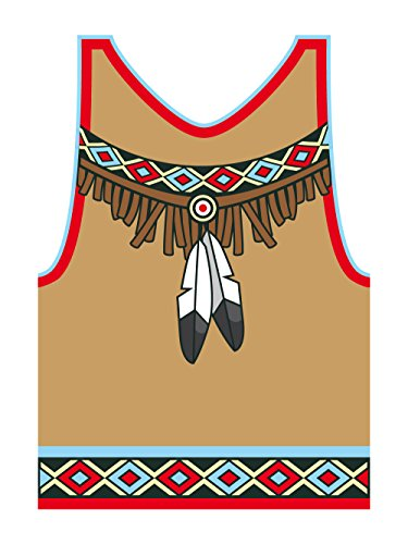 clothinx Herren T-Shirt Karneval Indianer Weiß