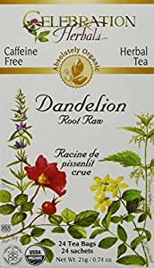 Organic Dandelion Root Raw Tea 24 Bag(S)
