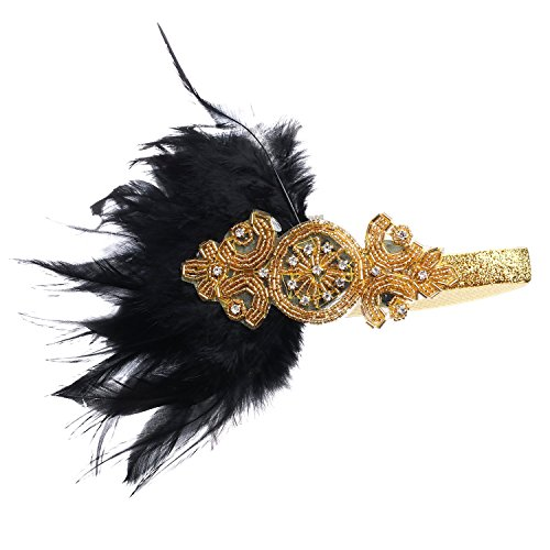 Stirnband 20er Jahre Stil Art Deco Flapper Haarband Great Gatsby Stirnband Damen Kostüm Accessoires (Kostüm The Great Gatsby)