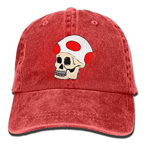 4f7855c1a6cf8 ERCGY Fashion Baseball Caps Hats Unisex Adjustable Dad Cap Trucker Hats  Mushroom Skull Cowboy Baseball Hat