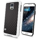 vau Bumper Cuboid - white - TPU Silikon-Case, Tasche für Samsung Galaxy S5