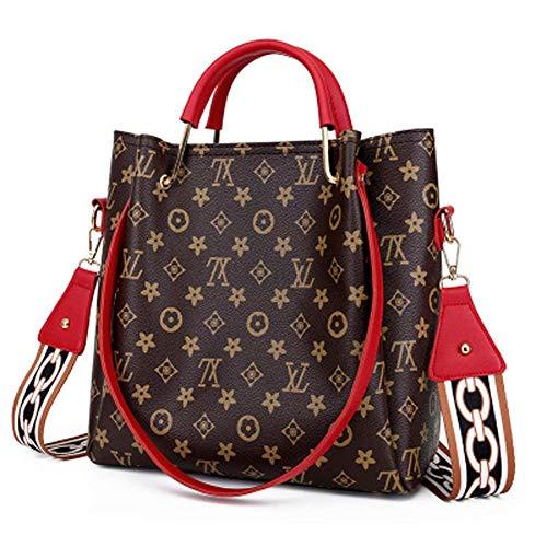 Po Koffer Tasche weiblich alte Blume Umhängetasche Mode Kind Tasche Wild Print Retro Handtasche,Red