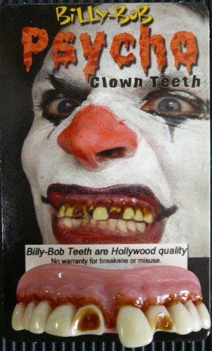 Billy Bob finto Halloween denti-Psycho Clown
