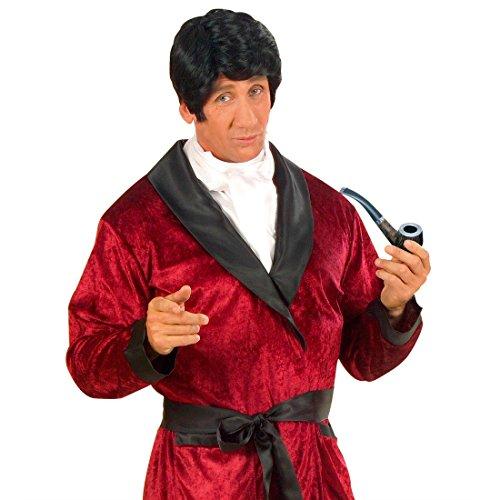 Detektiv Pfeife Sherlock Holmes graun-braun 14,5 cm Tabak Pfeife Rauchpfeife Kostüm Zubehör