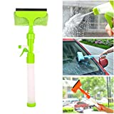 Credly Glass Cleaner Wiper - 3-in-1 Windshield Cleaner Brush Glass Wiper Squeegee Washer