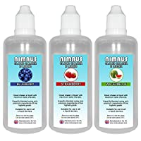 Triple Pack - 3x 100ml E Liquids: Blueberry + Strawberry + Watermelon. 80/20 Cloud Chaser Vape Juice. 0mg No Nicotine (Nimbus E Liquid) 8