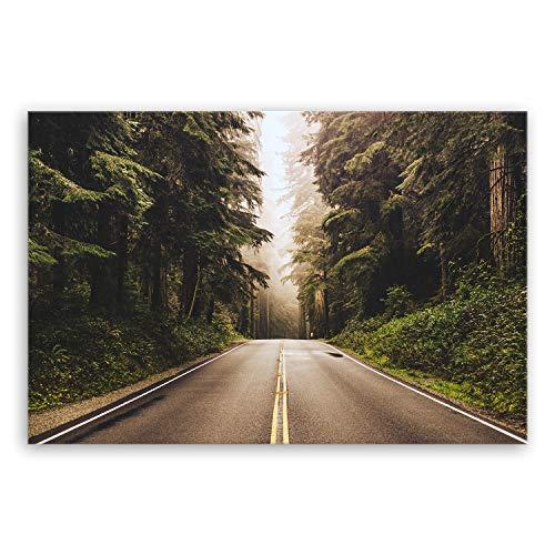 Bilderdepot24 hochwertiges Leinwandbild XXL - Redwood Highway in Nordkalifornien, USA - 120 x 80 cm einteilig 1460