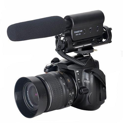 FOTOWELT TAKSTAR SGC-598 Richtmikrofon Höhe Empfindlichkeit Stereo Kamera Mikrofon Photografie Kamera Interview Mic für Nikon, Canon, DV, DSLR, Camcorder (Benötigt 3,5 mm Schnittstelle)