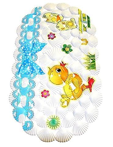 WARRAH Tapis de bain multi-usages / PVC pour tapis de bain Tapis antidérapants pour enfants et douche Duck