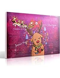 MJARTORIA Damen Schmuck Adventskalender Weihnachtskalender mit 24 Überraschungen Kette Freundschaftskette Armband Charms Anhänger Ohrringe