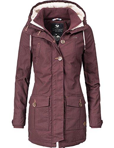 Ragwear Damen Mantel Wintermantel Winterparka YM-Jane (vegan hergestellt) Braun Gr. S
