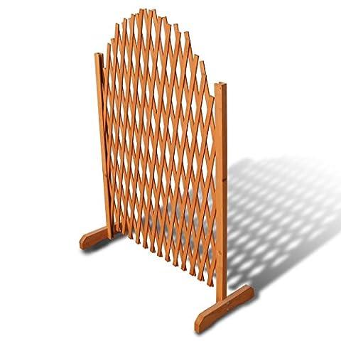 vidaXL Barrière en bois extensible 180 x 100 cm