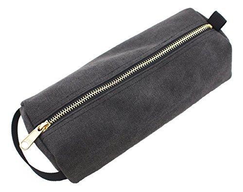 (ROUGH ENOUGH Sehr schwere Leinwand militärische klassische kleines Tool Bleistift Hardcase (stone black))