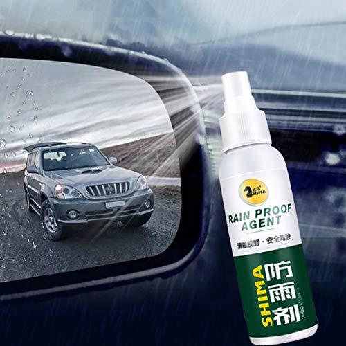 FENG Regensicheres Mittel, Autoglasbeschichtungsmittel Regensicheres Mittel, Glasregenmarkierungs-Ölfilm-Entferner (Grün)