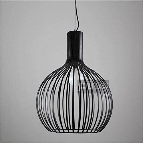 SDKKY Lampadario in ferro battuto di creativo stile American bar lampade a sospensione di ristorante caffetteria e piccola gabbia di uccello