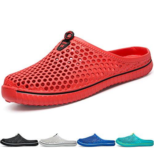 Bigu estate pantofole da all'aperto spiaggia con fori respiranti ciabatte slippers casa pattini sabot scarpe per donne uomo crocs crocband unisex nero bianca rosso blu turchese