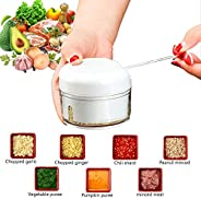 lozafot Food chopper and manual food processor-mini garlic crusher meat pepper vegetable slicer and dicing mac
