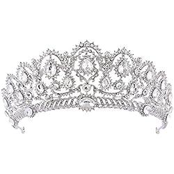 Da.Wa Mujeres Reina Corona Novia Hairband Pelo Adornos de Bodas Accesorios