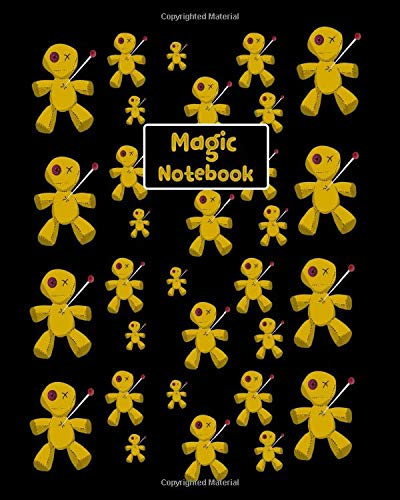 y White Magic Voodoo Spells. Halloween Themed College Ruled Notebook ()