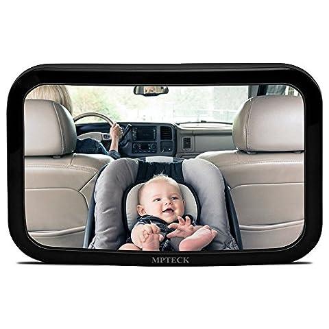 MPTECK @ Rücksitzspiegel Babyspiegel Sicherheitsspiegel Rücksitz Spiegel 360° Anpassbar für Babys Infant in Sicht Autositz AUTO SUVs