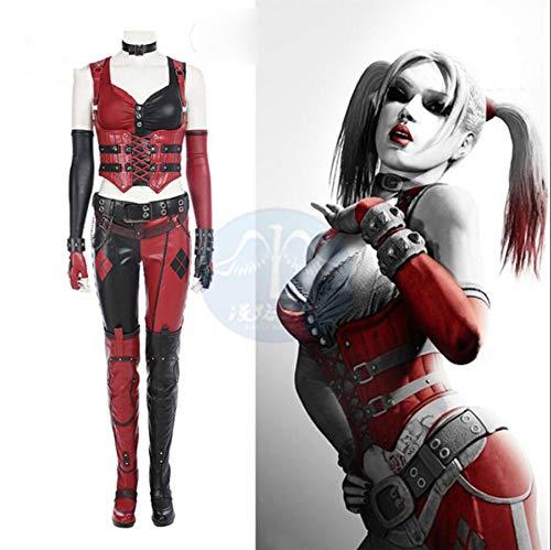 Adegk Clown Mädchen Cosplay Kostüm Kostüm Kostüm Für Frauen Halloween Kleidung Requisiten,Ms.M