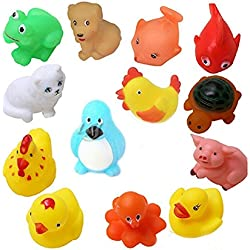 Advent Basics™ Non-Toxic Soft chu chu Toys Set for Baby Toddler Bath Toys (12 Chu Chu Toys)