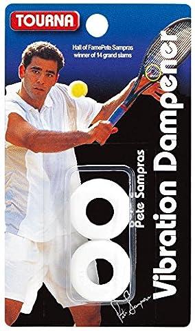 Tourna Tennis Racquet Sampras Vibration Dampener 2 Pack Shock Absorber White