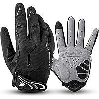 I Kua Fly Vollfinger Fahrradhandschuhe Männer Touchscreen Kompatibel MTB Handschuhe mit Gel für Herren Damen