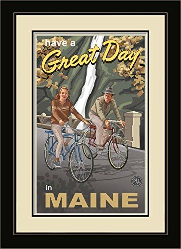 Northwest Art Mall pal-1267mfgdm Snowshoe Pair Maine Paar Gorge Bikers gerahmt Wand Kunst von Künstler Paul A. lanquist, 13von 40,6cm