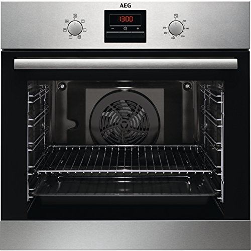 AEG BES33101ZM Einbau-Backofen mit Manuelle Reinigung / Grillfunktion / Display mit Uhr / A