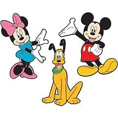 Idea Regalo - Thedecofactory RoomMates, Adesivi in Schiuma riposizionabili, con Personaggi Disney: Topolino, Minnie e Pluto, in 3D, in Rilievo (3Adesivi per Bambini: Fino a 25cm)