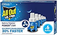 All Out Ultra refill pack of 6 (6 refills pack, 45ml each)